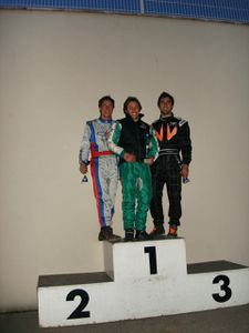 Ligue Angerville podium KZ125 2