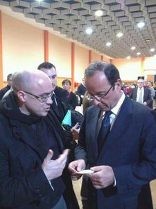 cyril cibert et F Hollande 8 janv 2012