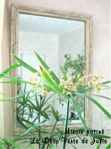 Miroir patiné - La Déco'Verte de Julie