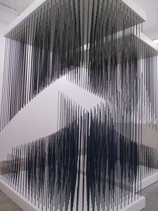 Doble progresion azul y negro - 1975 - Jesus Raphael Soto (