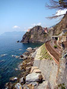 Italie-Cinque Terre_chemin de fer_train