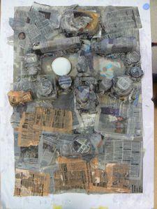 Bas relief en papier mâché