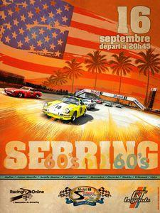 Affiche Sebring 60's