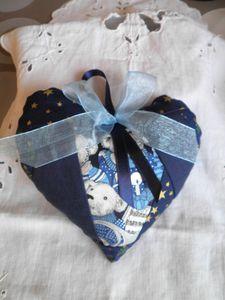 coeur noel bleu