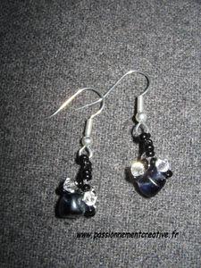 boucles d'oreilles finesse jet-cristal