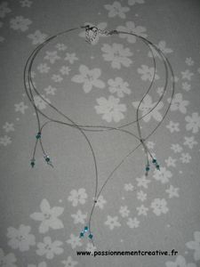 Collier cablé blue zircon 1ere version
