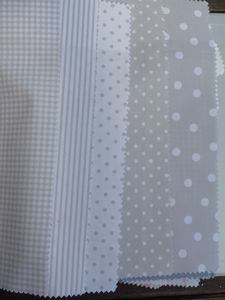 coordonne kids tissu gris taupe pois lignes vichy theo tela