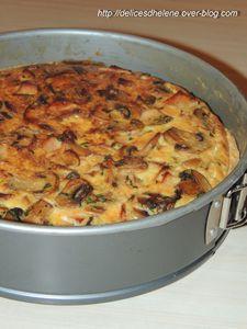 Tarte champignons-poulet (3)
