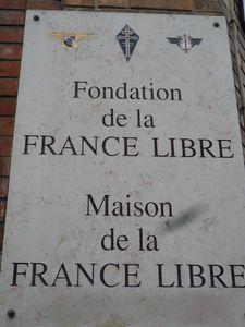 Fondation de la France Libre 1angle rue de la colonie et ru