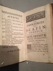 5 Edition originale des Fourberies de Scapin 1671
