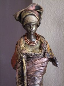 statue africaine powertex