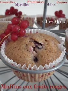 Muffins rouges