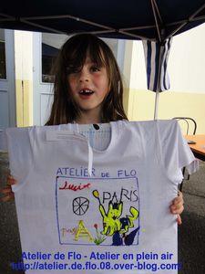 Atelier de flo-Donchery-Peinture-Tee shirt-Enfants-FloM19