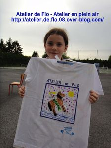 Atelier de flo-Donchery-Peinture-Tee shirt-Enfants-FloM26
