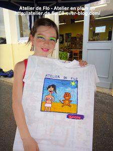 Atelier de flo-Donchery-Peinture-Tee shirt-Enfants-FloM28