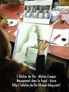 Atelier de Flo-Croquis-Modèle-Mouvement-Tracé-Encre 19
