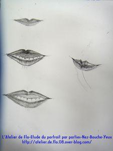 Etude Portrait dessin croquis yeux nez bouche Atel-ier de Flo17