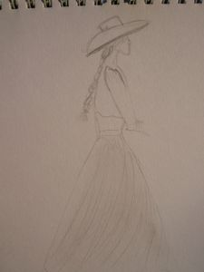 espagnole profil dessin