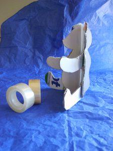 montage ours papier valentin