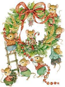 souris couronne Noël