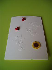 Carte emboxage fleurs de l'Amitié