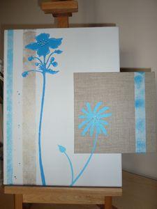 22 - Fleurs bleues