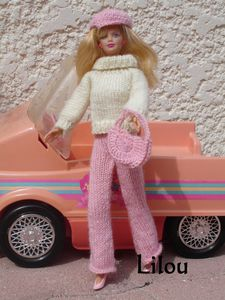 photo patron tricot gratuit barbie
