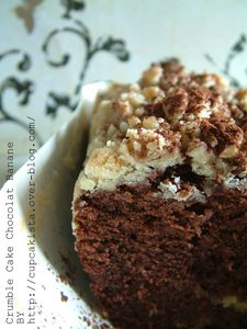 Crumble cake chocolat Banane-1