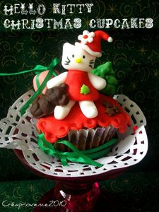 Prunille Fée hello kitty christmas cupcakes