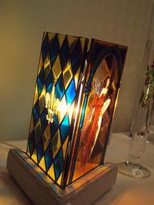 Lampes creation artisanale la f e de verre for Belles lampes a poser