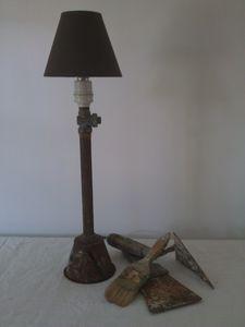 lampe, idée cadeau, récup, rouille, loft, usine