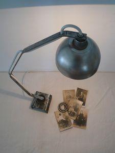 lampe à poser, création unique, esprit loft, usine, ateli