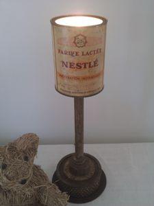 lampe à poser, détournement d'objet, filtre, boulon, roui
