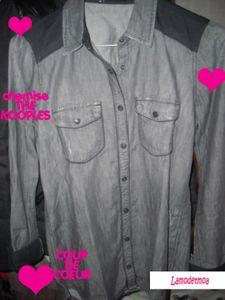 chemise grise the kooples lamodetmoa