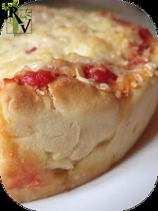 Pizza Deep-Dish Végétarienne Classique