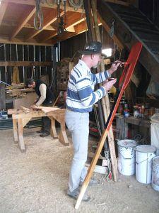 Peiture des avirons et montage du safran