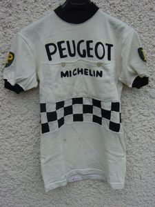 R maillot PEUGEOT-BP-MICHELIN