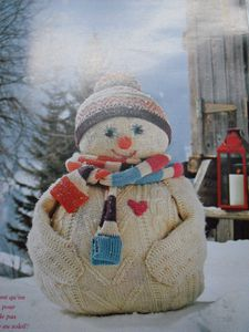 Bonhomme neige tricoté