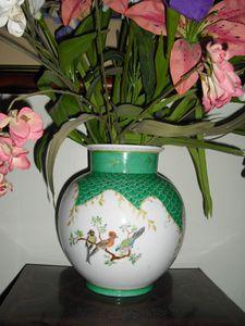 Vase aux oiseaux