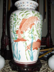 Vase aux poissons chinois