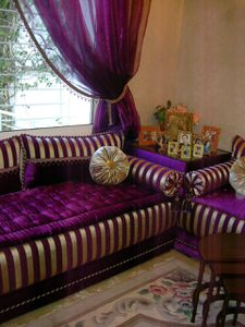 Awesome Salon Marocain Moderne Mauve Ideas - House Design ...