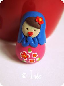 Scrap Inès Fimo Polymer Clay Matriochka Poupées Russes 5
