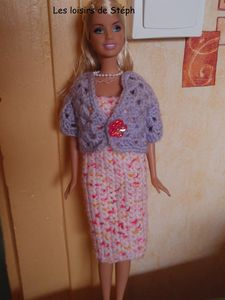Barbie robe + gilet-copie-1