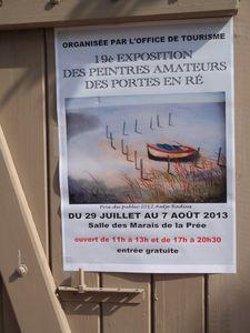 Exposition des Peintres amateurs des Portes en Ré 2013
