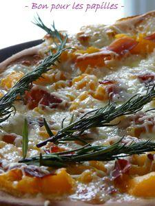 Pizza potiron jambon de pays
