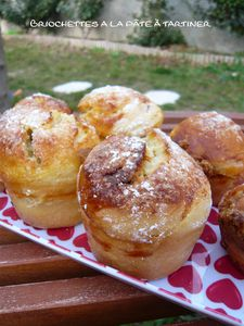 Briochettes à la pâte à tartiner