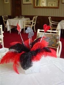 centre de table décoration mariage thème casino