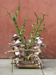 Bouquet de bambou entrelac de bois bois flott art for Bouquet bois flotte