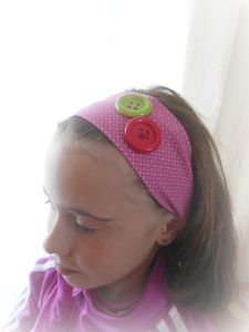 HEAD BAND ROSE GRAPHIQUE