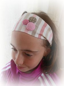 HEAD BAND ROSE TAUPE